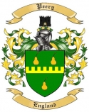 Peery Family Crest from England