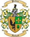 Peeters Family Crest from Holland