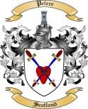 Peirce Family Crest from Scotland