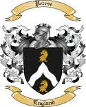 Peirse Family Crest from England