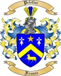 Peletier Family Crest from France