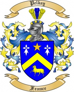 pelkey family crest from france by the tree maker