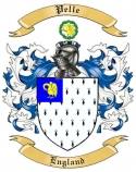 Pelle Family Crest from England