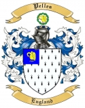 Pelles Family Crest from England