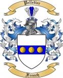 Pelletier Family Crest from France2