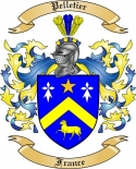Pelletier Family Crest from France