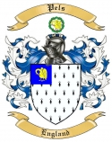 Pels Family Crest from England