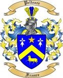 Pelteare Family Crest from France