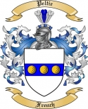 Peltie Family Crest from France2
