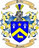 Peltie Family Crest from France