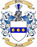 Peltier Family Crest from France2