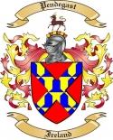 Pendegast Family Crest from Ireland