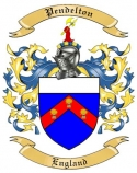 Pendelton Family Coat of Arms from England