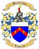 Pendelton Family Crest from England
