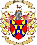 Pendergist Family Coat of Arms from Ireland