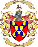 Pendergrist Family Coat of Arms from Ireland