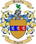 Pengelley Family Coat of Arms from England