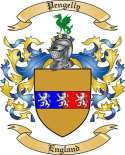 Pengelly Family Crest from England