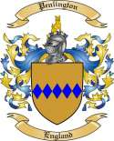 Penlington Family Crest from England