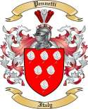 Pennetti Family Crest from Italy2