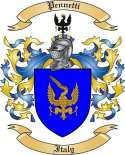 Pennetti Family Crest from Italy