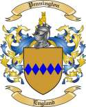 Pennington Family Crest from England