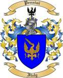 Pennini Family Coat of Arms from Italy