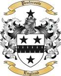 Pentecoste Family Coat of Arms from England