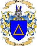 Penter Family Crest from Germany