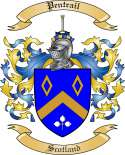 Pentrail Family Coat of Arms from Scotland