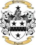 Pentycross Family Crest from England