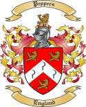 Peppers Family Crest from England