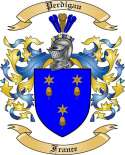 Perdigau Family Crest from France