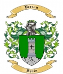 Pereau Family Crest from Spain