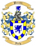 Peretti Family Crest from Italy