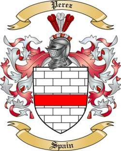 Perez Family Crest From Spain By The Tree Maker