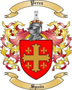 Perez Family Crest from Spain2