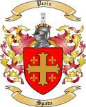 Periz Family Crest from Spain2