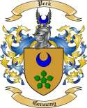 Perk Family Coat of Arms from Germany