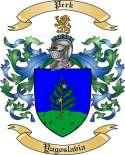 Perk Family Crest from Yugoslavia