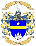 Pero Family Crest from Italy