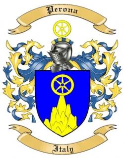 Perona Family Crest from Italy