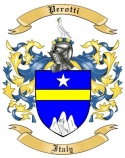 Perotti Family Crest from Italy