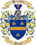 Perraudin Family Crest from France