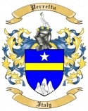 Perretta Family Coat of Arms from Italy