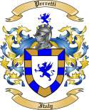 Perretti Family Coat of Arms from Italy