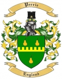 Perrie Family Crest from England