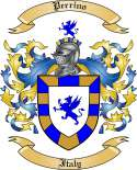 Perrino Family Crest from Italy