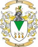 Perry Family Crest from England