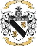 Perry Family Crest from France